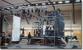 舞台周辺照明用櫓